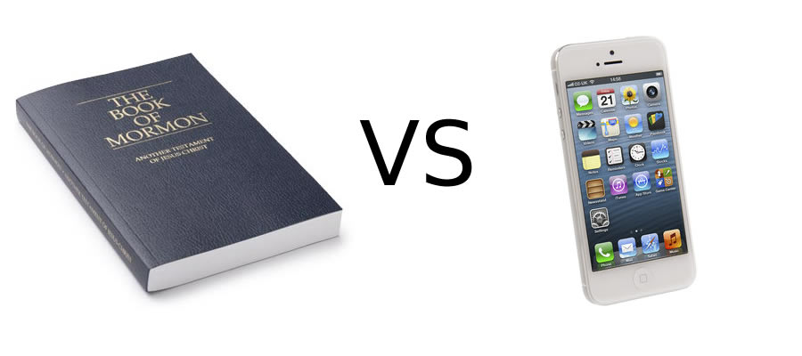 book of mormon vs cell phone