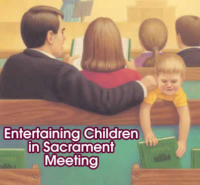 entertaining kids in sacrament meeting